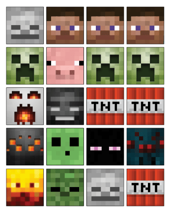 picture regarding Minecraft Tnt Printable identified as Minecraft TNT Birthday Cake Cupcakes with Toppers Moxie