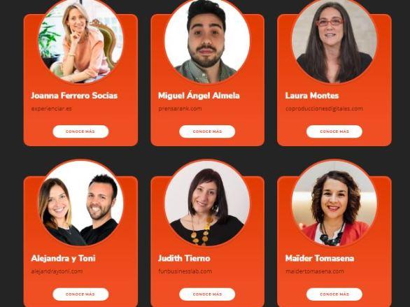Ponentes del evento Hotmart Madrid mayo 2018
