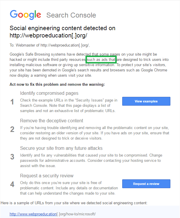 social engineering content detected 1