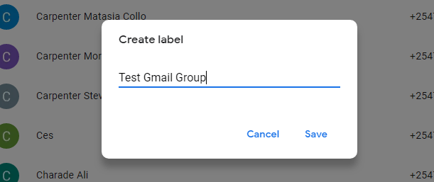 How To Create a Group In Gmail 2