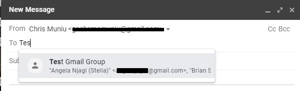 how to send group emails in gmail