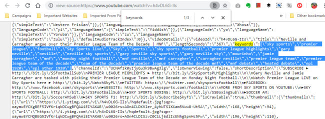 how to see youtube tags without software
