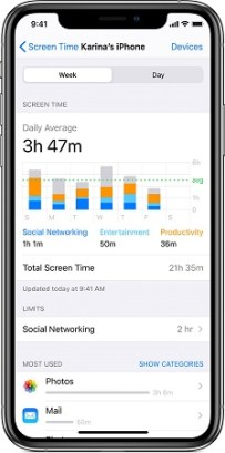 how to check screen time on an iPhone