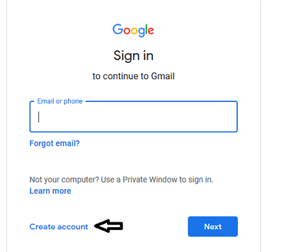 how to create a google account without gmail