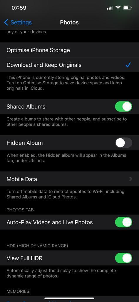 Hide Hidden Photos On iPhone