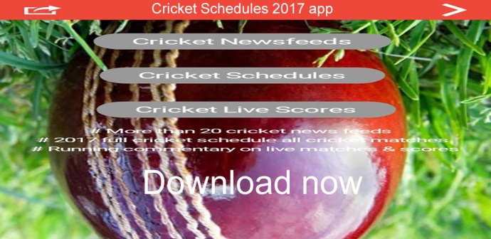Cricket Schedule and news app