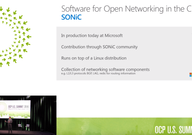 Microsoft Announces Open Sourced SONiC for Running Network Devices