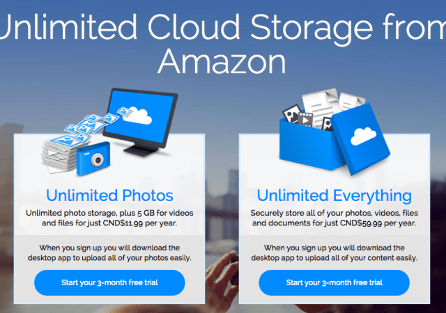 Amazon Launches Cloud Drive Unlimited Storage in Canada