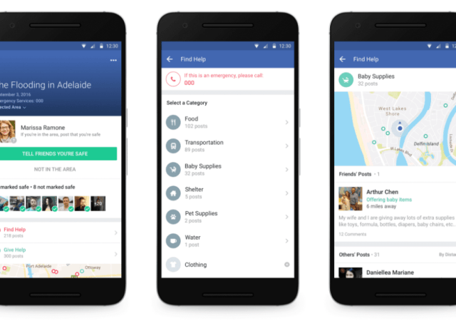 Facebook Adds Community Help to Safety Check