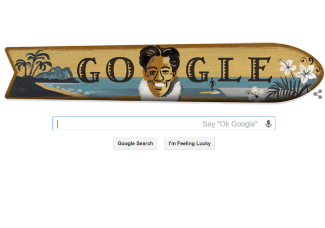 Duke Kahanamoku Google Doodle Shines Light On Legendary 'Big Kahuna'