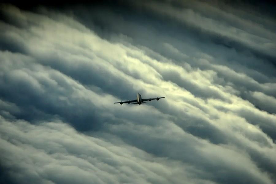 Turbulenzen, Flugzeug