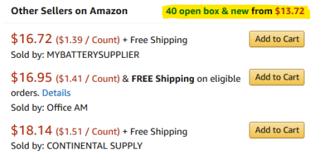 Amazon product 40 offers