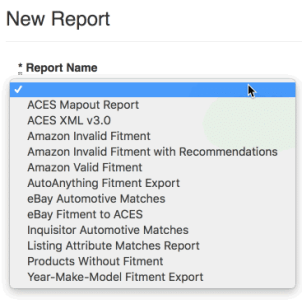 myFitment new report menu