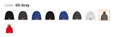 Hats vary by more than color