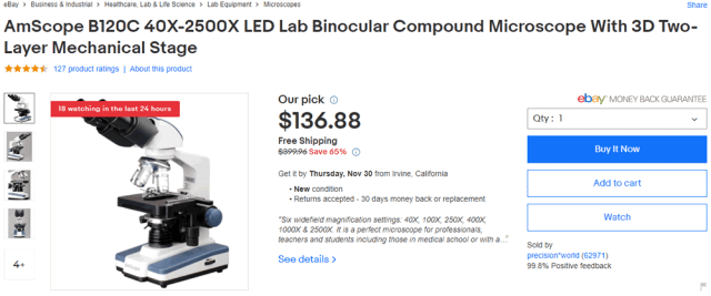 eBay our pick for microscope