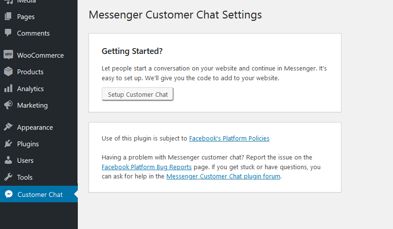 Facebook Messenger for WordPress