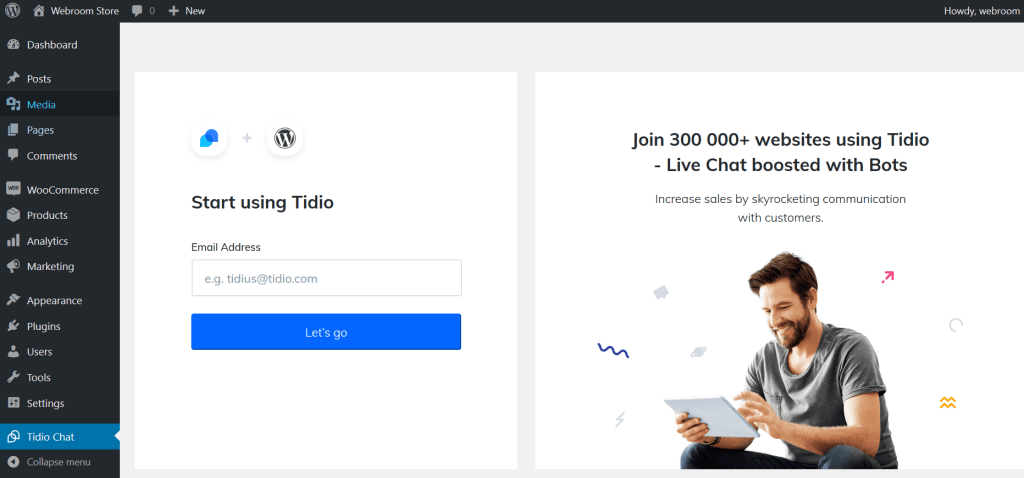 Tidio Live Chat WordPress