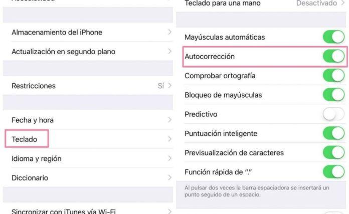 autocorrector iphone ipad