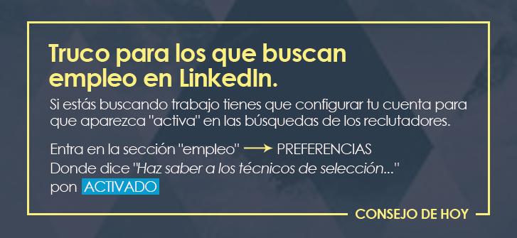 Consejo para buscar empleo en LinkedIn