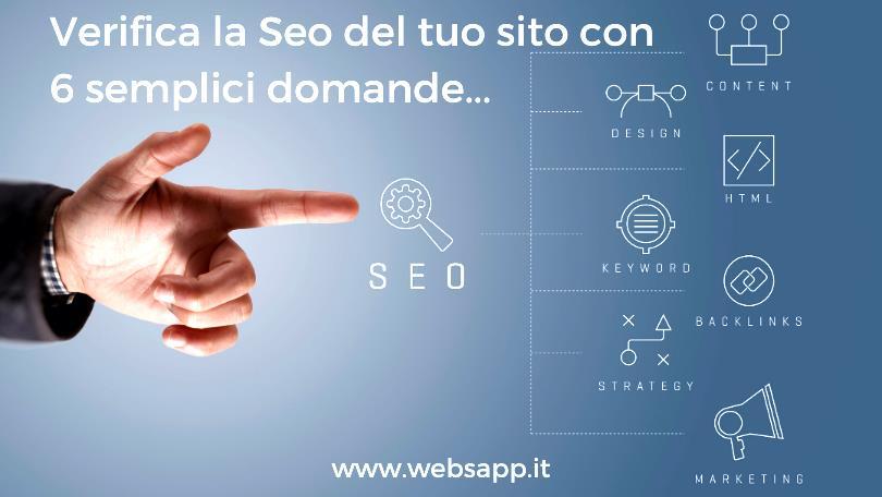 la seo e il posizionamento del sito web websapp.it