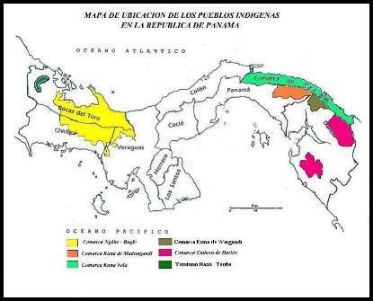 mapa ubicacion pueblos indigenas panama