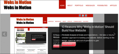 10 Reasons Why 'Webs In Motion' Should Build Your Website