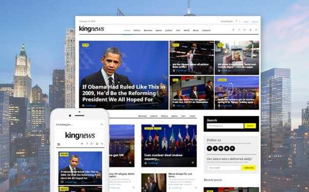 News Website Design Image