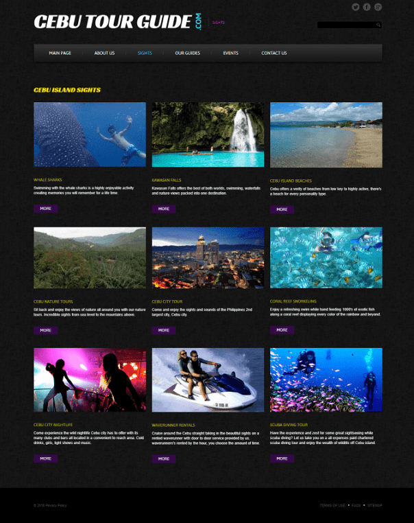 cebu tour guide sites page image