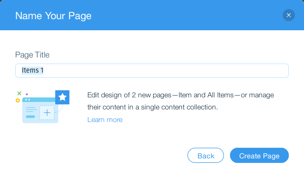 Wix Editor Add Dynamic Page Name