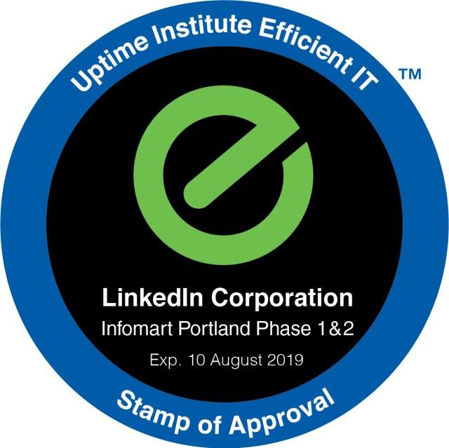 LinkedIn's Oregon Data Center Goes Live, Gains EIT Stamp of Approval 2