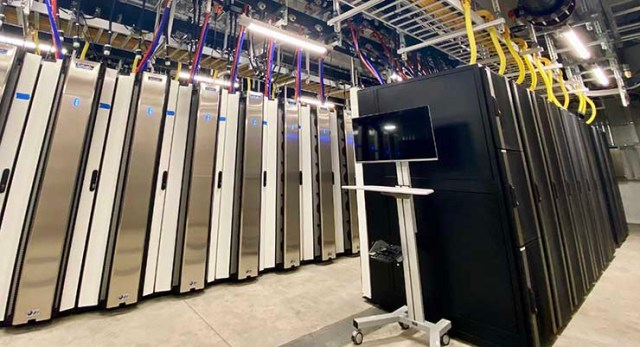 Cabinets inside a data module at the Nautilus Data Technologies facility in Stockton. (Photo: Nautilus Data)