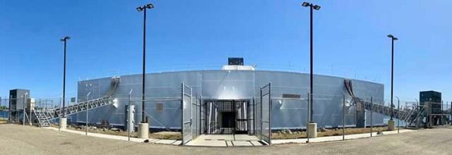 The entrance to the Nautilus Data Technologies facility in Stockton. (Photo: Nautilus Data)