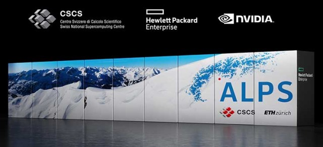 Artist's rendering of Alps, set to be the world's most powerful AI-capable supercomputer, announced by The Swiss National Computing Centre (CSCS), Hewlett Packard Enterprise (HPE) and NVIDIA. (Image: NVIDIA)