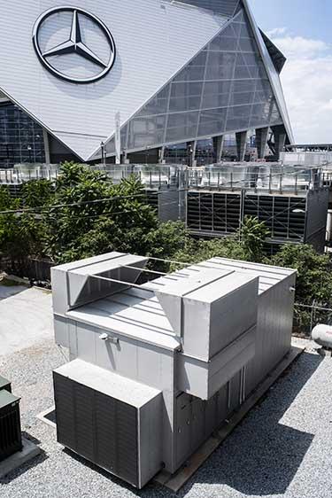 The Vapor IO module at Mercedes Benz stadium in Atlanta. (Photo: Vapor IO)