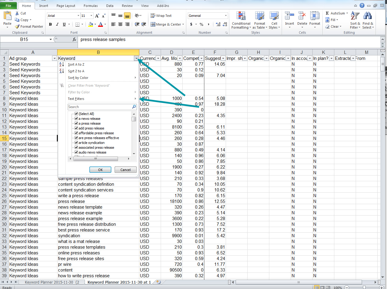 Using Excel Filter To Delete Or Keep Rows Containing