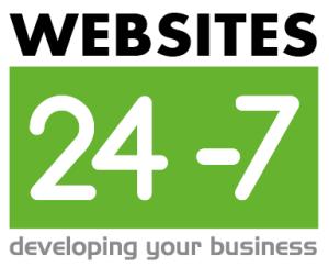 Websites 24-7 Square Logo white