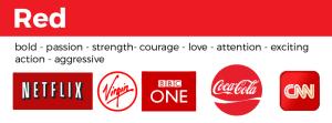 examples of red logos Netflix bb virgin coca cola