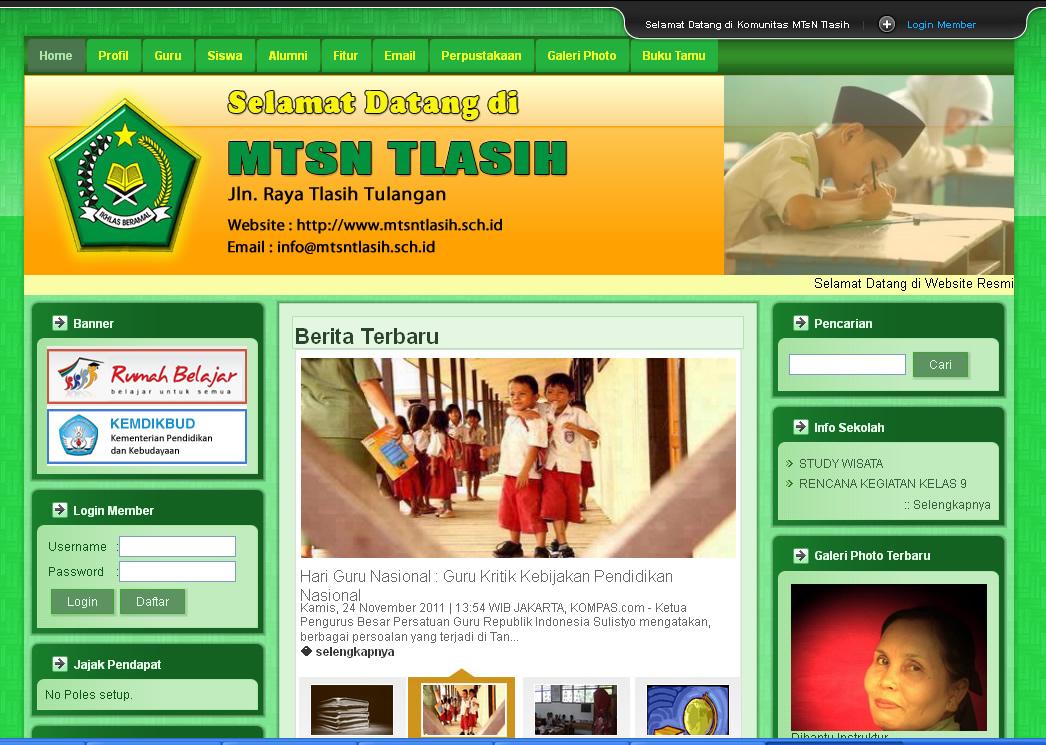 contoh website sekolah smp contoh website sekolah mts
