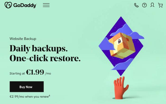 Godaddy - backup tool godaddy