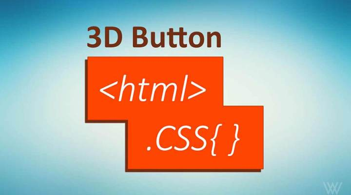 How to Create 3D Button in HTML & CSS?