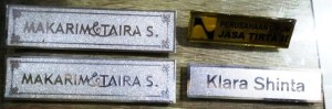 name tag stainless