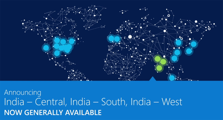 Availability of Azure regions in India