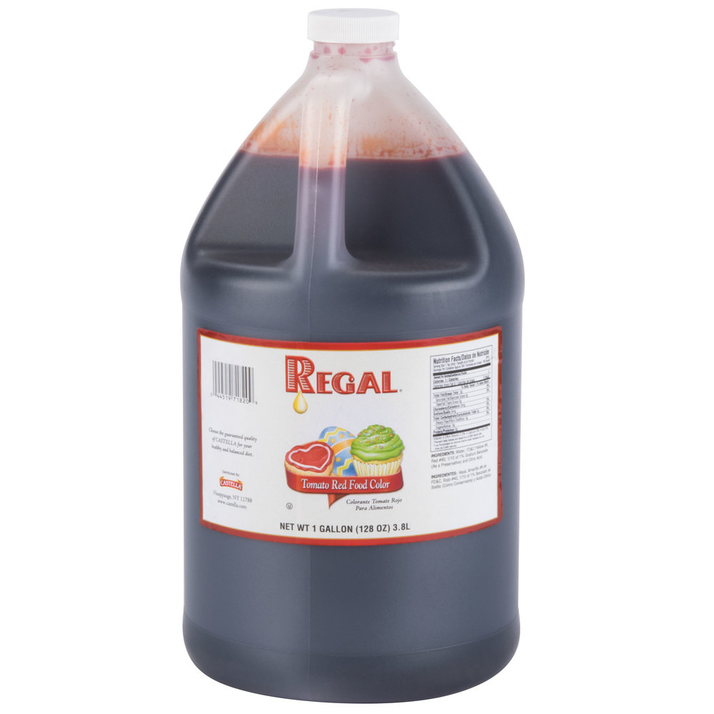 Tomato Red Food Coloring 1 Gallon
