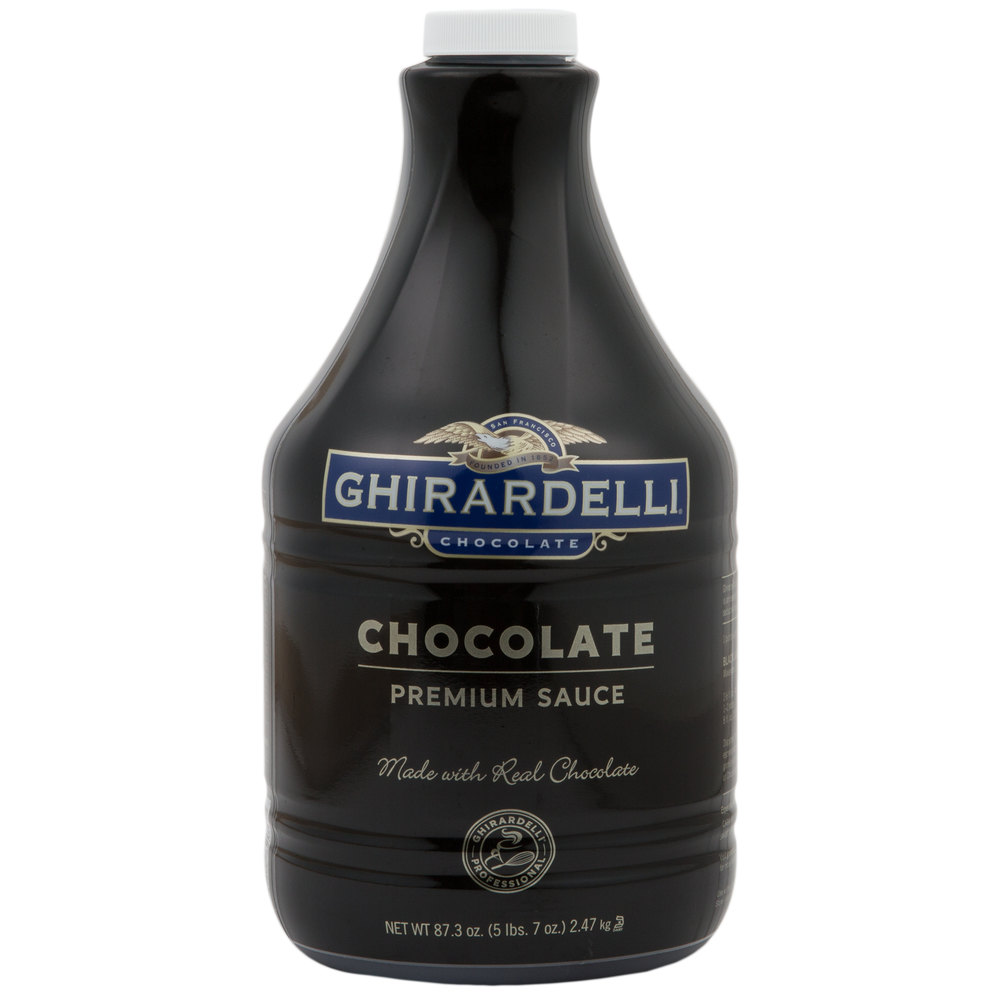 Ghirardelli 64 Oz Black Label Chocolate Flavoring Sauce