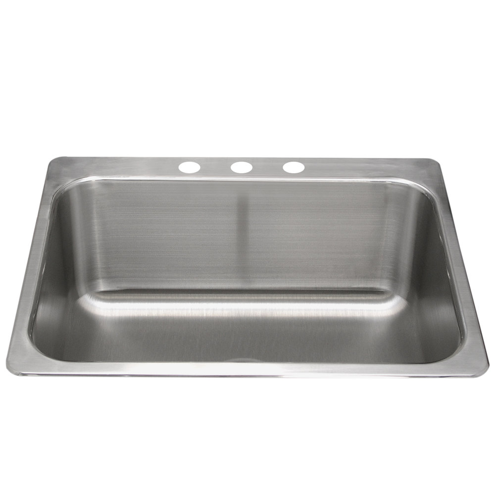 advance tabco ls 2418 14re 1 bowl stainless steel drop in laundry room sink 24 x 18 x 14