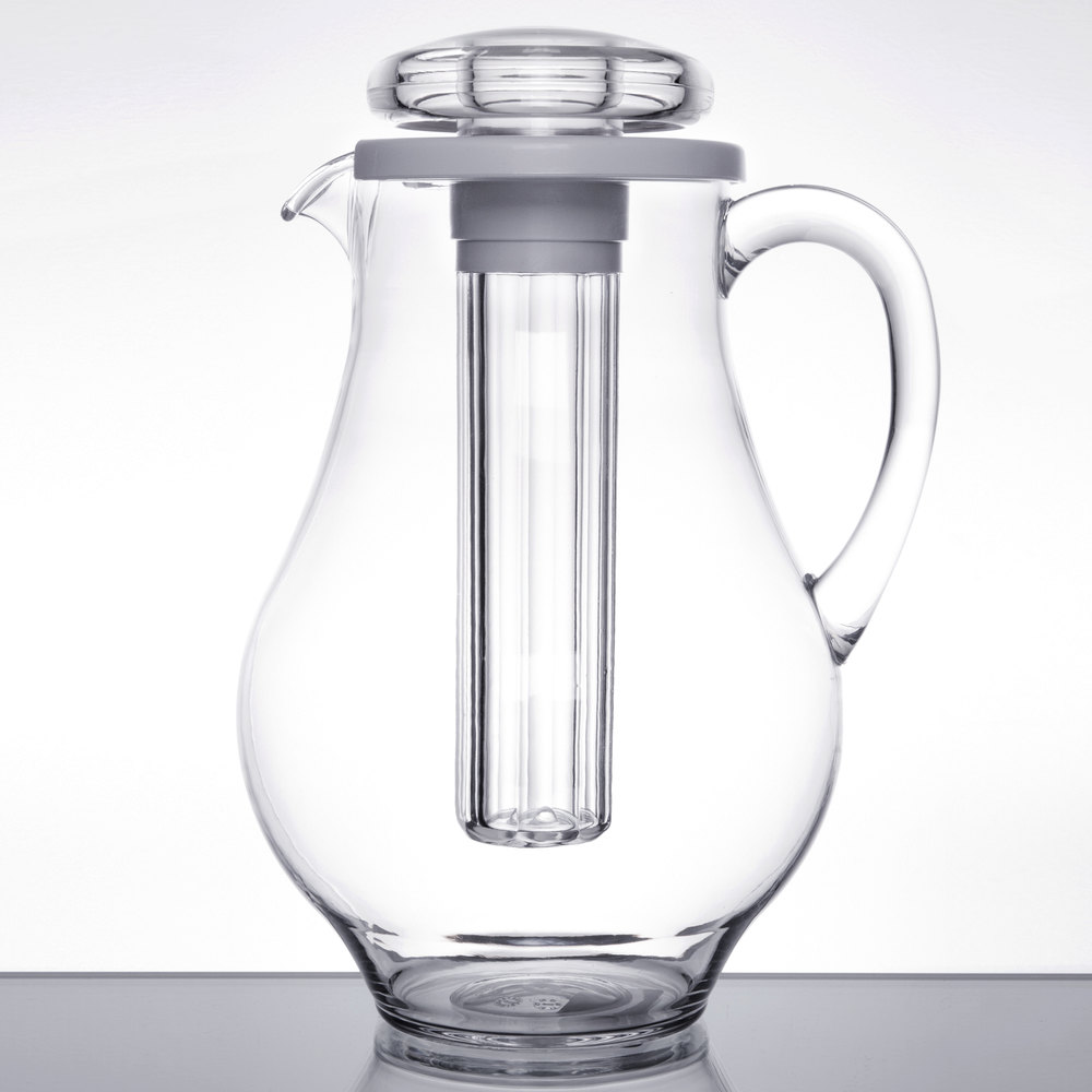 Tablecraft 328 96 Oz Plastic Pitcher With Ice Core
