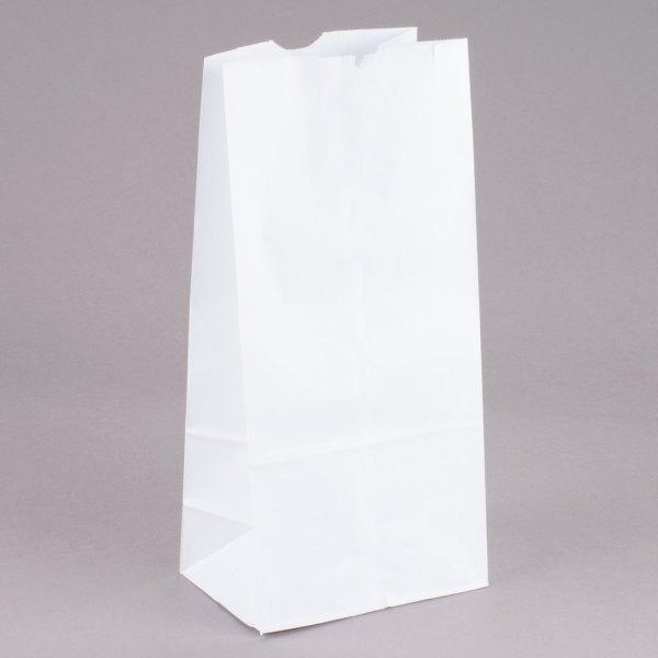 Duro 10 lb. White Paper Bag - 500/Bundle