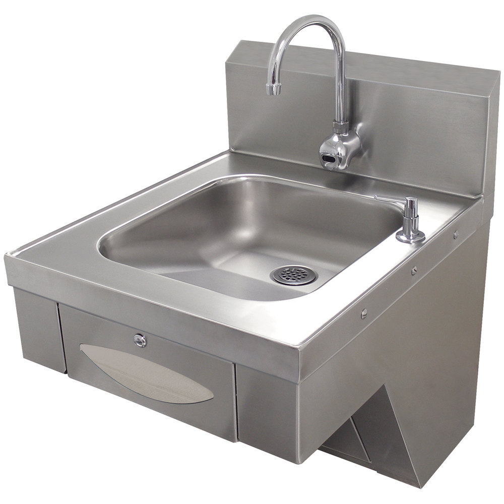 advance tabco 7 ps 41 hands free hand sink with paper towel dispenser ada compliant