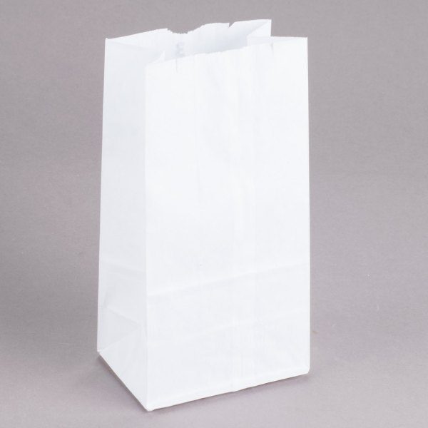 Duro 3 lb. White Paper Bag - 500/Bundle