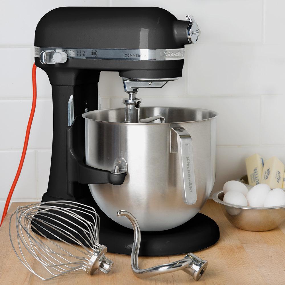 Black KitchenAid 8 Qt Commercial Mixer KSM8990OB